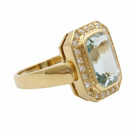 Ladies ring with aquamarine - photo 3