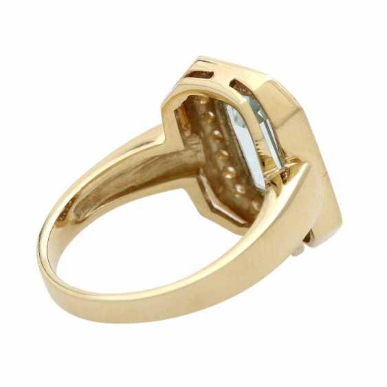 Ladies ring with aquamarine - photo 4