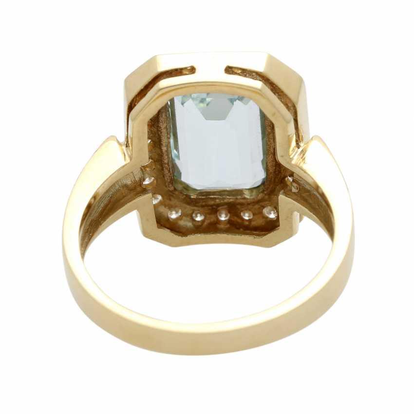 Ladies ring with aquamarine - photo 5