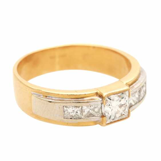 Ladies ring with diamonds in Princess-cut - photo 2
