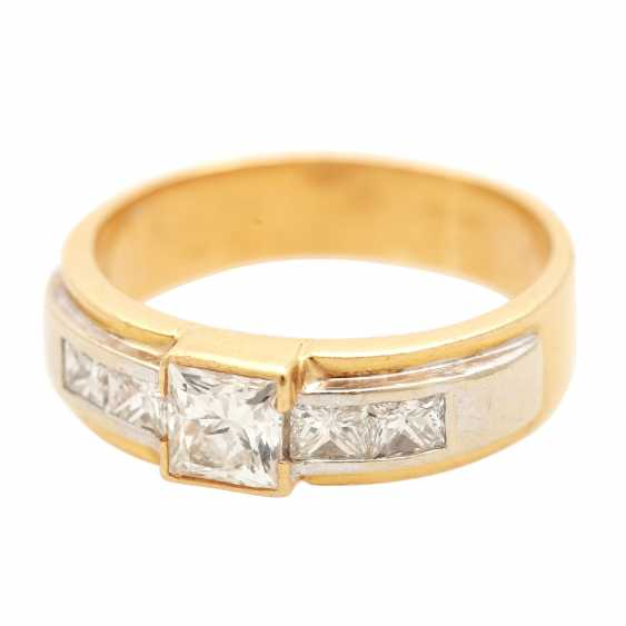 Ladies ring with diamonds in Princess-cut - photo 5