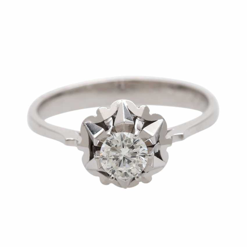 Engagement ring with 1 diamond approx 0,39 ct - photo 1