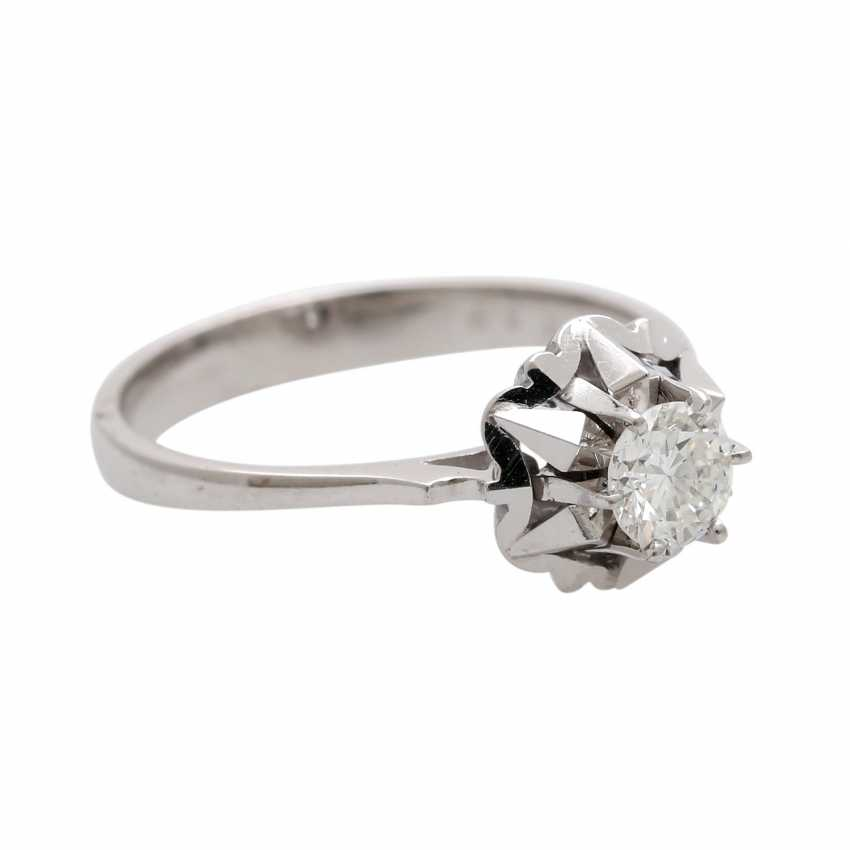 Engagement ring with 1 diamond approx 0,39 ct - photo 2
