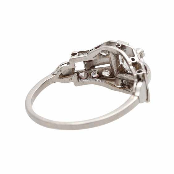 Ring ART DECO 1 old European cut diamond - photo 3