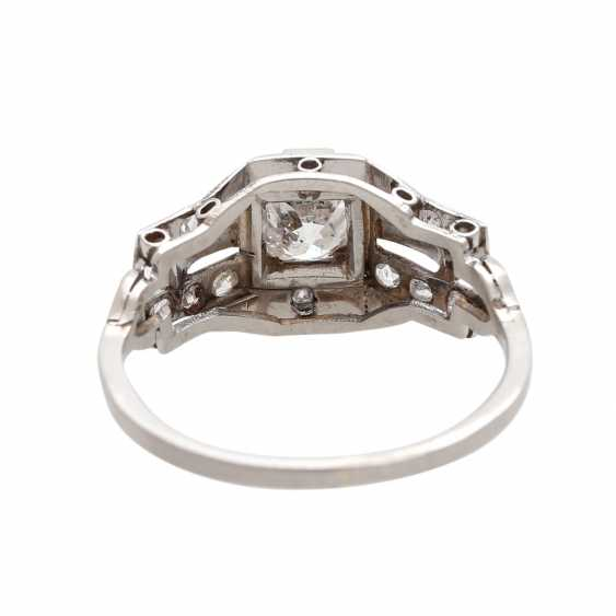 Ring ART DECO 1 old European cut diamond - photo 4
