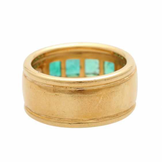 Ring mit 4 Smaragdcarrés und 2 Brillanten - photo 4
