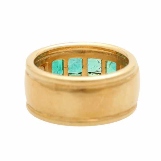 Ring mit 4 Smaragdcarrés und 2 Brillanten - photo 5