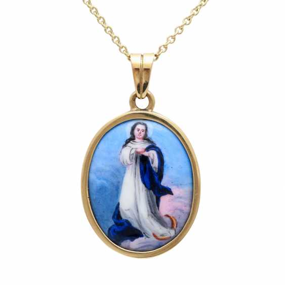 Pendant with miniature painting, - photo 2