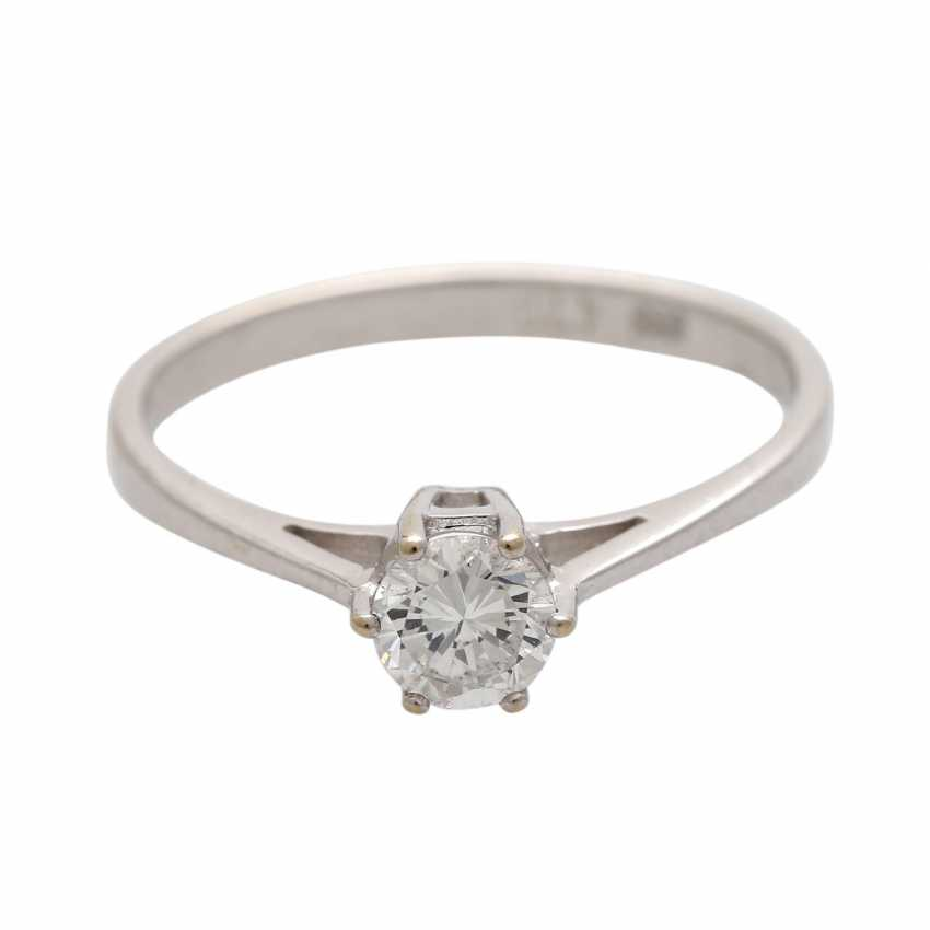 Engagement ring with brilliant approx 0,47 ct (grav.) - photo 1