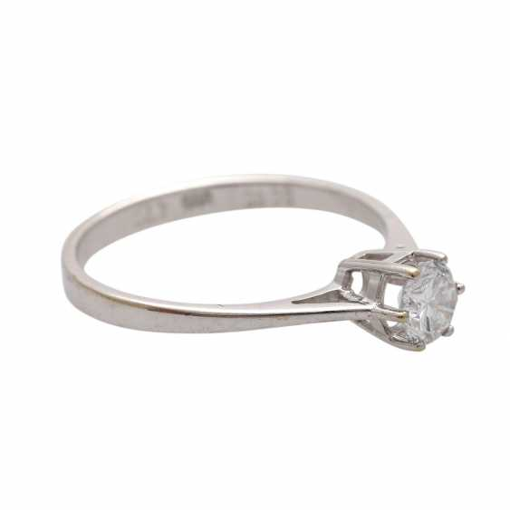 Engagement ring with brilliant approx 0,47 ct (grav.) - photo 2