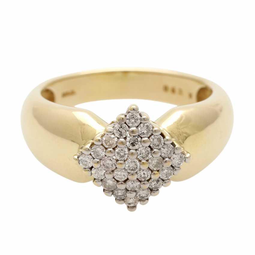Ladies ring with diamonds in diamond shape - photo 1
