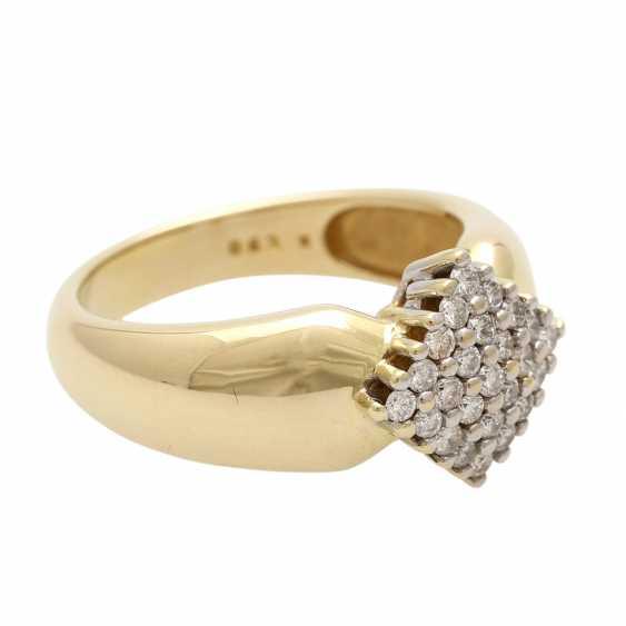 Ladies ring with diamonds in diamond shape - photo 2