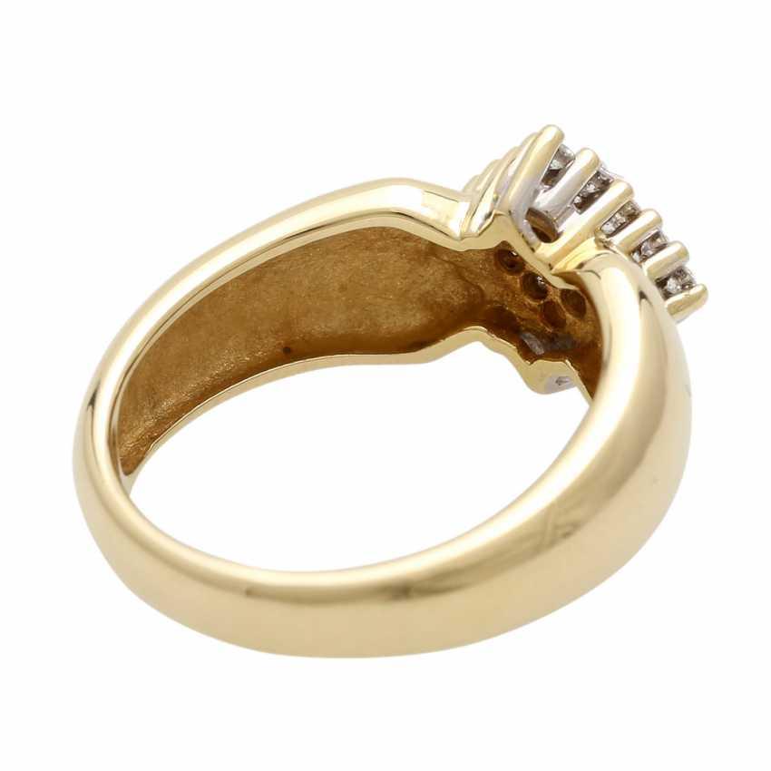 Ladies ring with diamonds in diamond shape - photo 3