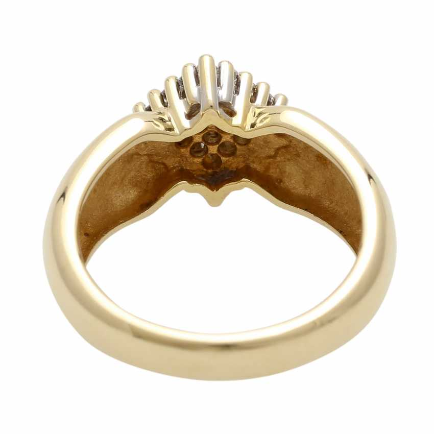 Ladies ring with diamonds in diamond shape - photo 4
