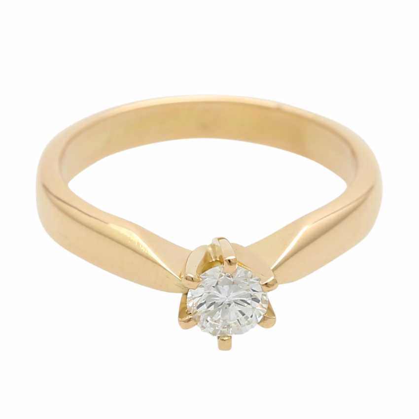 Engagement ring with 1 diamond of approximately 0.3 ct - photo 1