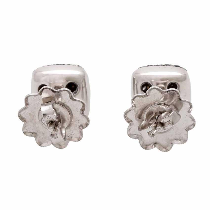 Stud earrings (Pair) studded with black diamonds - photo 5