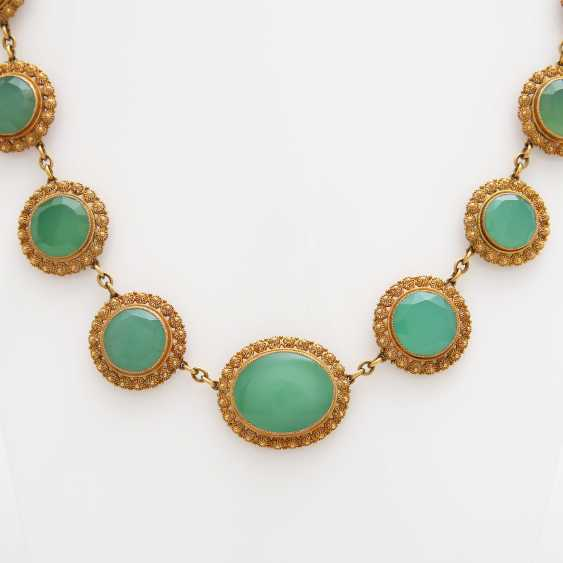 Collier, m. occupied 17 Chrysoprasen - photo 3