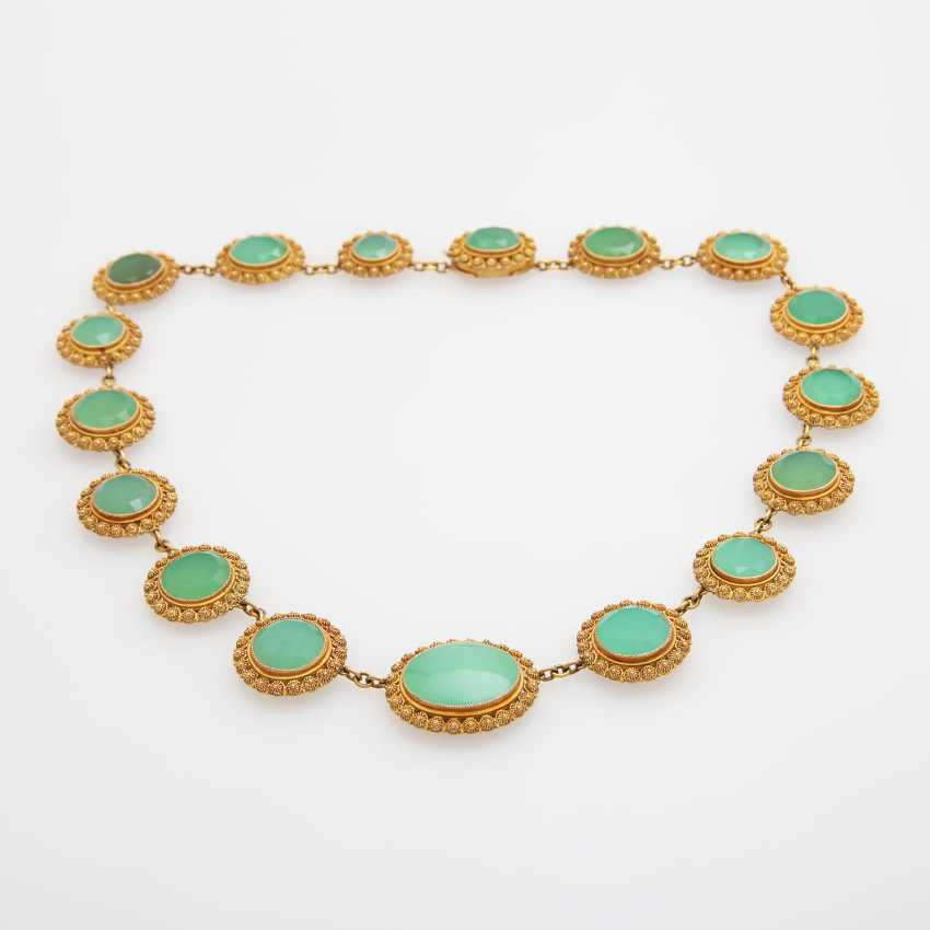 Collier, m. occupied 17 Chrysoprasen - photo 1