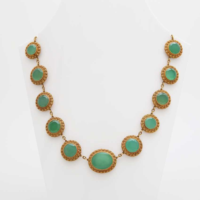 Collier, m. occupied 17 Chrysoprasen - photo 2