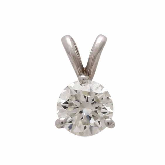 Classic pendant with 1 diamond approx 0,70 ct, - photo 1