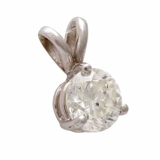 Classic pendant with 1 diamond approx 0,70 ct, - photo 2
