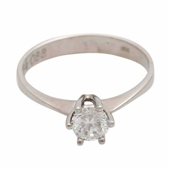 Engagement ring with 1 diamond 0.54 ct, - photo 1