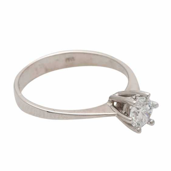 Engagement ring with 1 diamond 0.54 ct, - photo 2