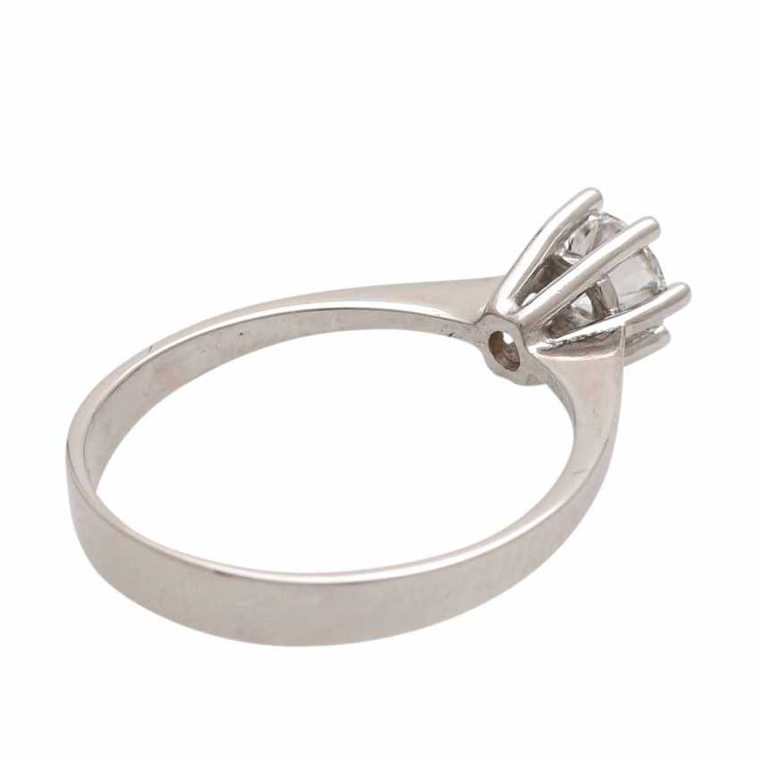 Engagement ring with 1 diamond 0.54 ct, - photo 3