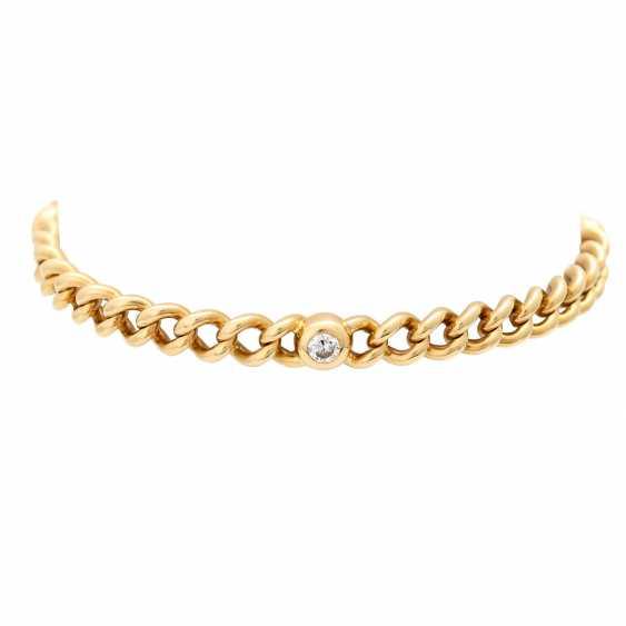 Curb bracelet with 4 diamonds - photo 1
