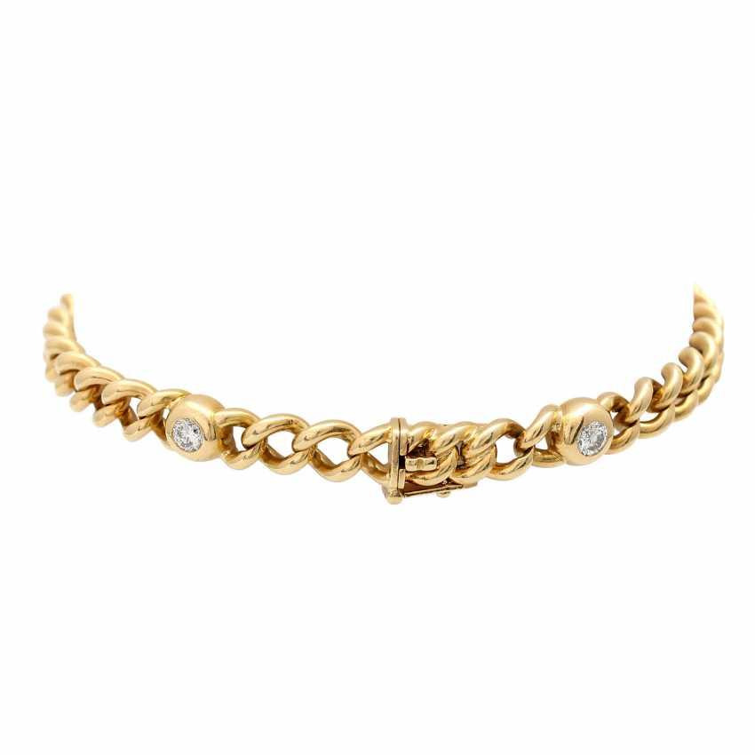 Curb bracelet with 4 diamonds - photo 2