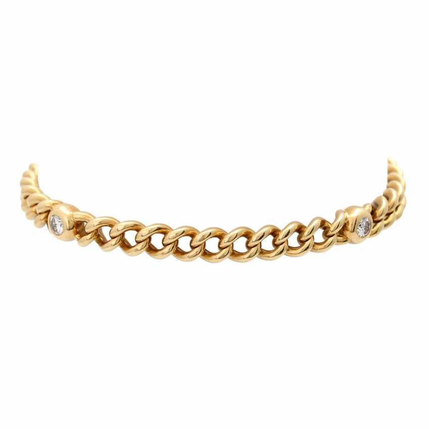 Curb bracelet with 4 diamonds - photo 3