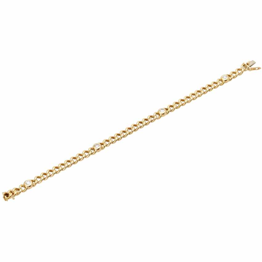 Curb bracelet with 4 diamonds - photo 4