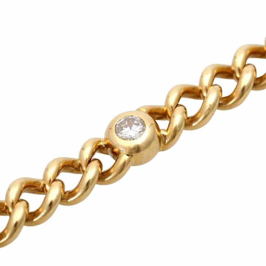 Curb bracelet with 4 diamonds - photo 5