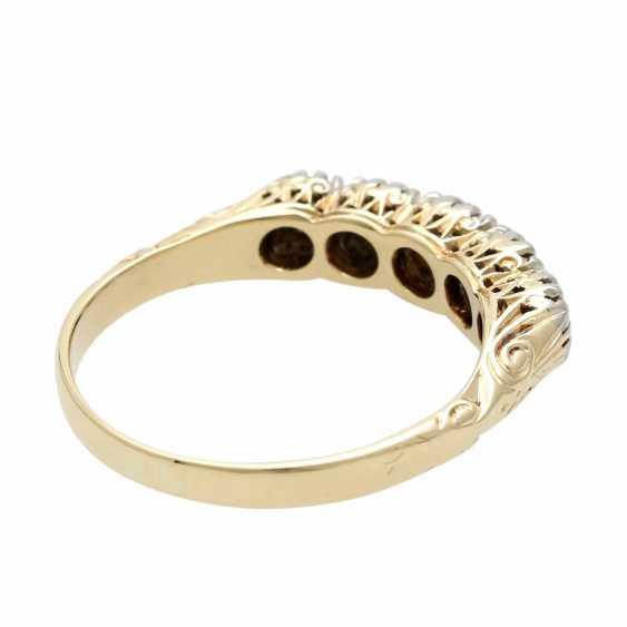 Ladies ring with 5 diamonds - photo 3