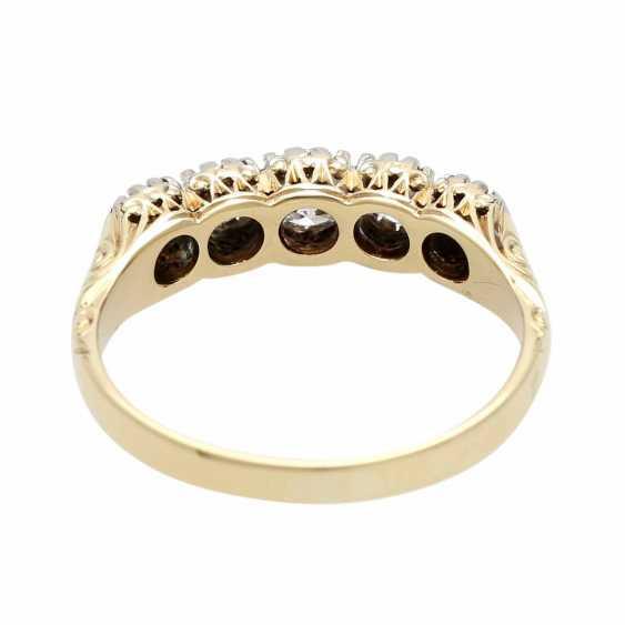 Ladies ring with 5 diamonds - photo 4