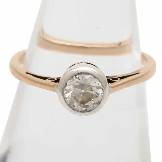 Engagement ring with 1 old European cut diamond approx 0.5 ct, - photo 5