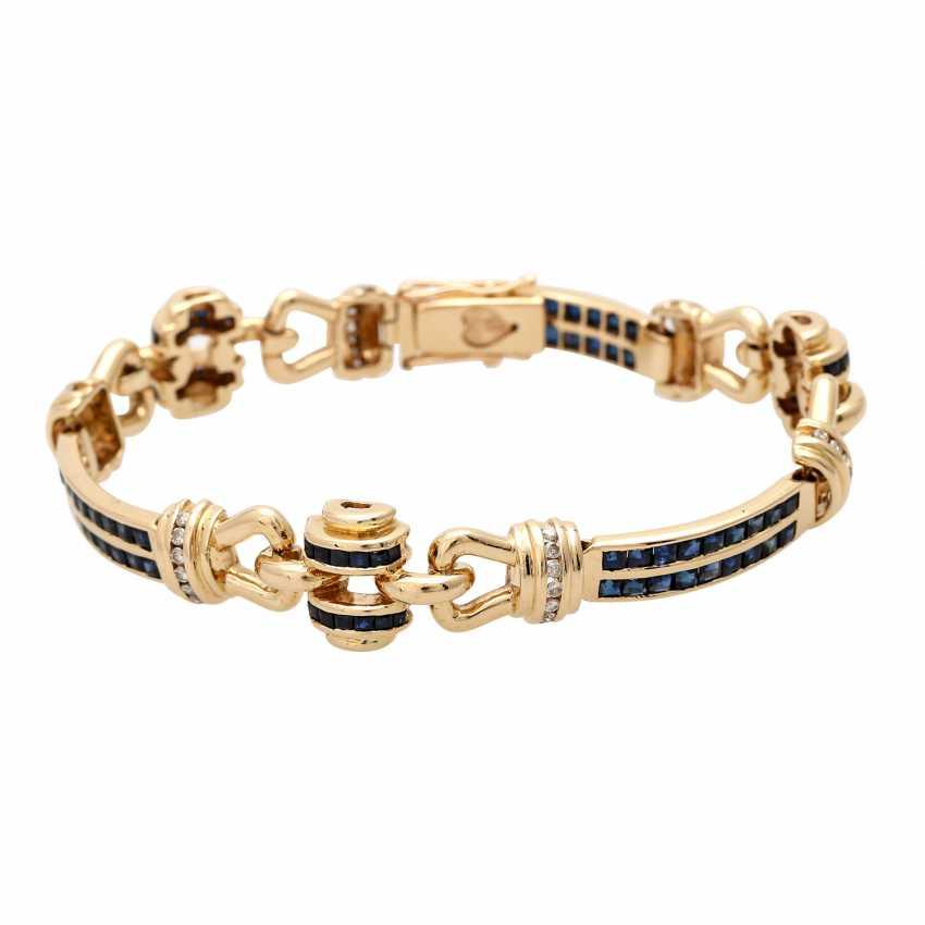 Armband mit Saphircarrés und Brillanten - photo 1