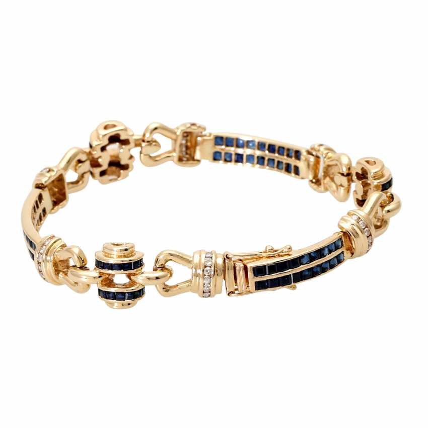Armband mit Saphircarrés und Brillanten - photo 2