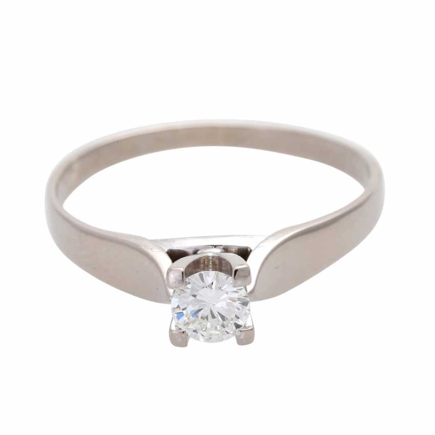 Engagement ring, approx 0.35 ct., FW-W (G-H)/ VVS-VS - photo 1