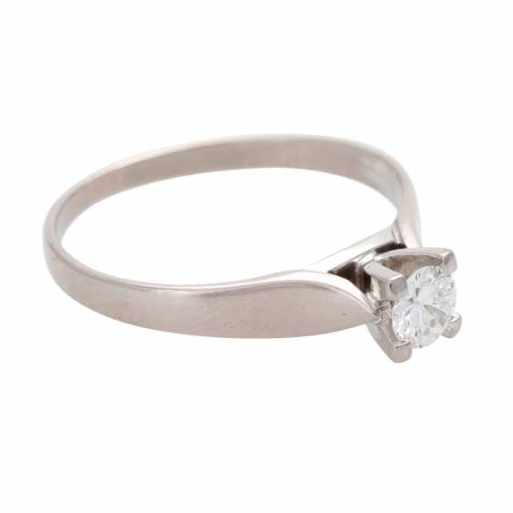 Engagement ring, approx 0.35 ct., FW-W (G-H)/ VVS-VS - photo 2