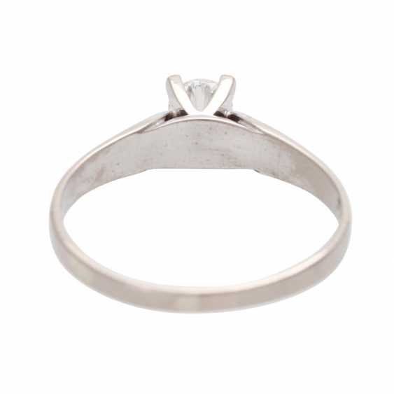 Engagement ring, approx 0.35 ct., FW-W (G-H)/ VVS-VS - photo 4