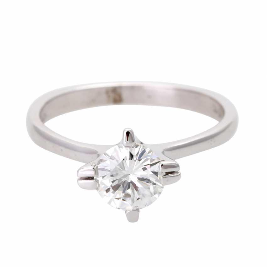 Engagement ring, brilliant 0,984 ct., VS/ W (H) - photo 1