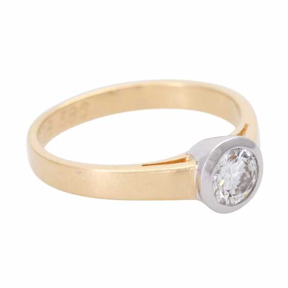 Engagement ring with brilliant of approx. 0,52 ct., - photo 2