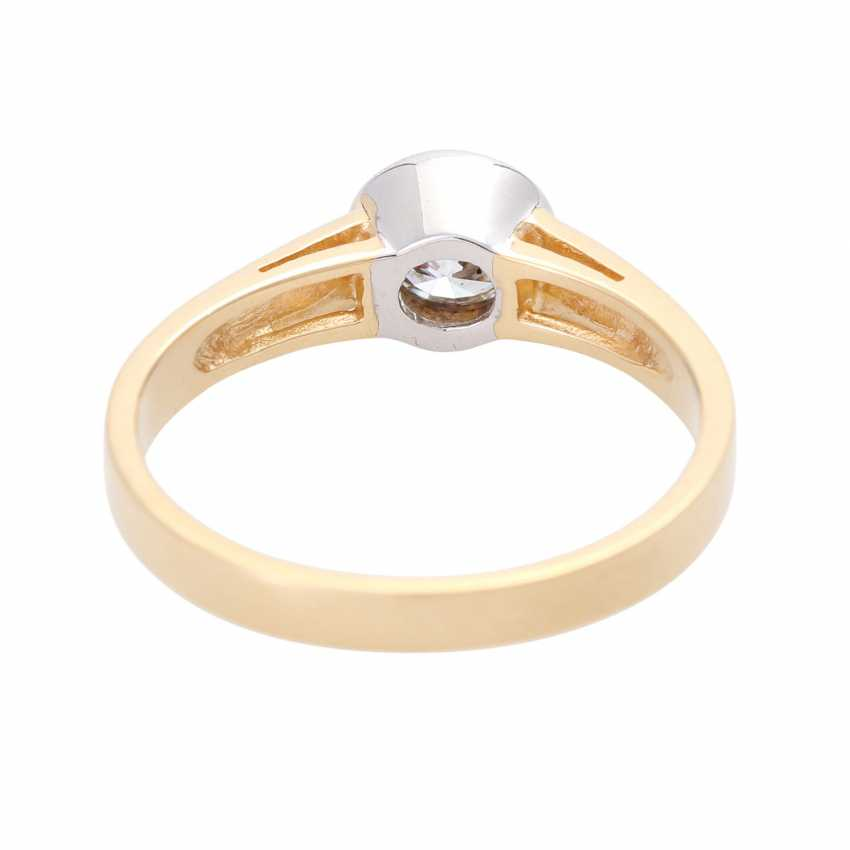 Engagement ring with brilliant of approx. 0,52 ct., - photo 4