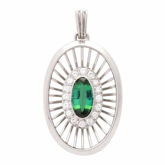 Pendant with green tourmaline - photo 1