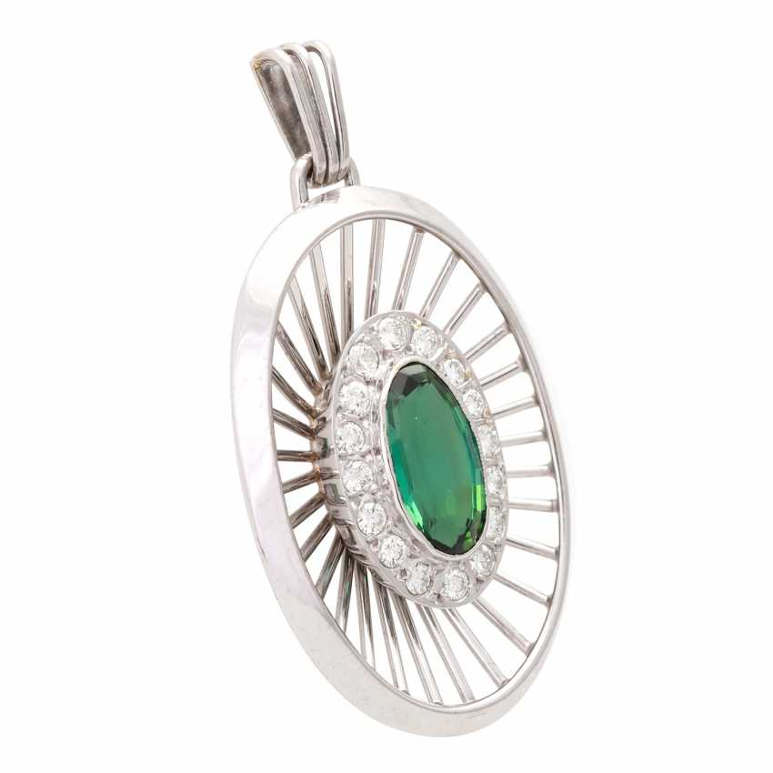 Pendant with green tourmaline - photo 2