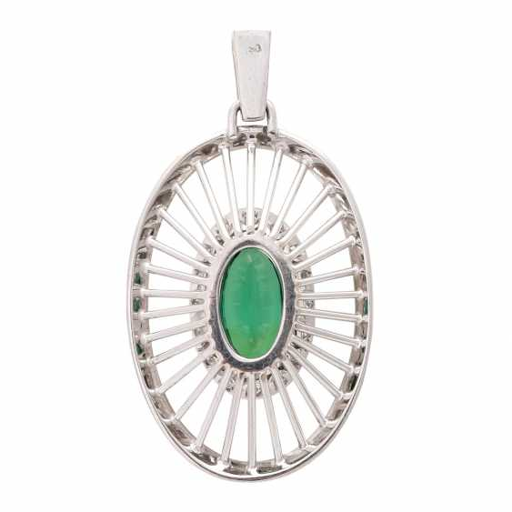 Pendant with green tourmaline - photo 4