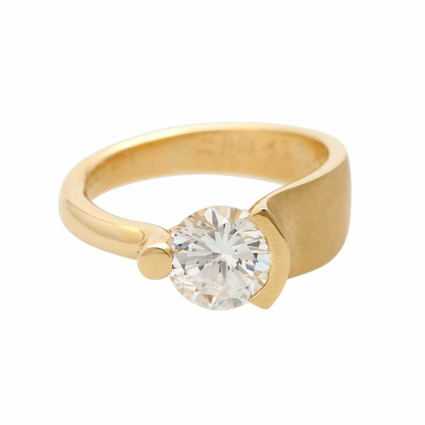 Engagement ring with brilliant, approximately 2,17 ct, - photo 1