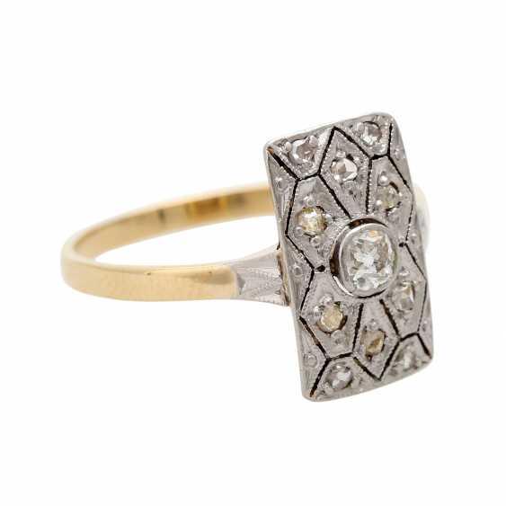 ART DECO ladies ring, centered 1 old European cut diamond - photo 2