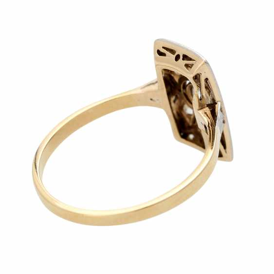 ART DECO ladies ring, centered 1 old European cut diamond - photo 3